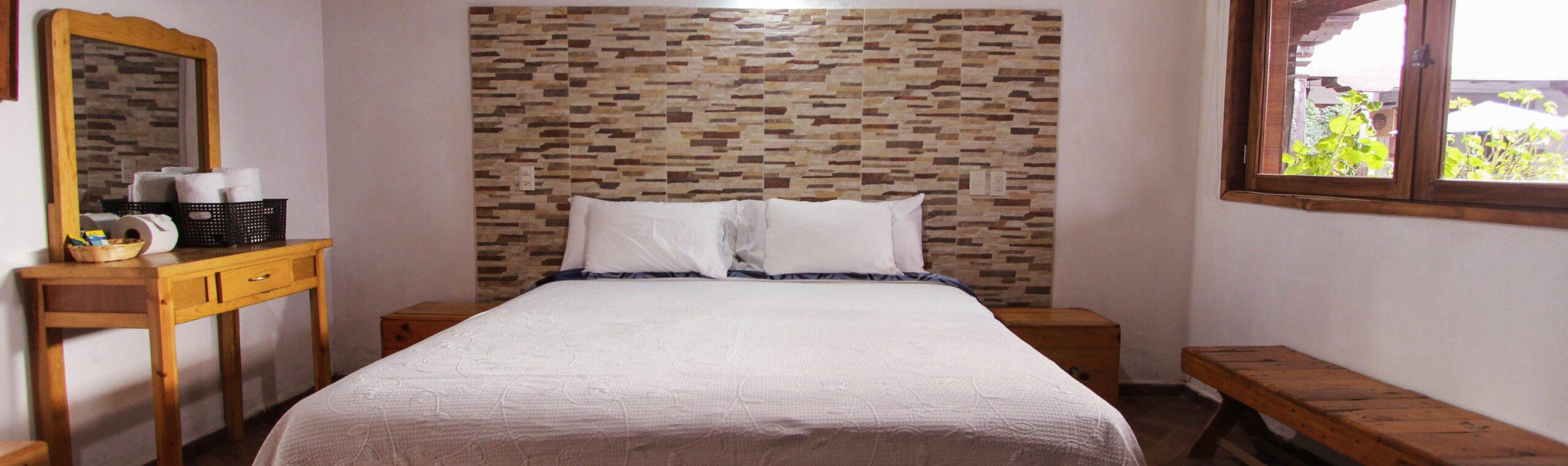 habitacion 9 con vista a la cama